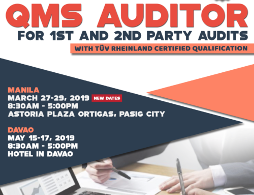 New Course! Be a Certified QMS Internal Auditor Now