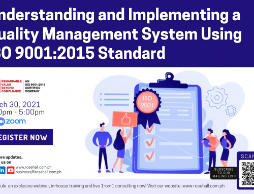 Understanding and Implementing Quality Management System using ISO 9001:2015 Standard