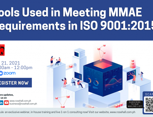 Tools Used in Meeting MMAE Requirements in ISO 9001:2015