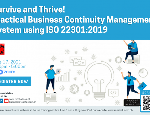 SURVIVE & THRIVE! Practical BCMS using ISO 22301:2019