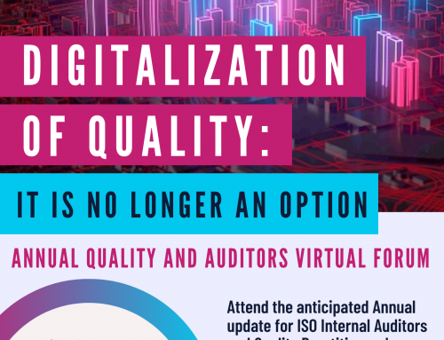 SAVE THE DATE! DIGITALIZATION OF QUALITY: IT IS NO LONGER AN OPTION