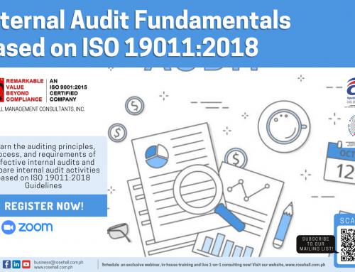 Internal Audit Fundamentals based on ISO 19011:2018