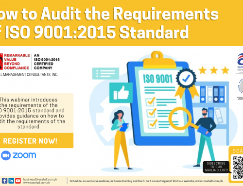 How to Audit the Requirements of ISO 9001:2015 Standard