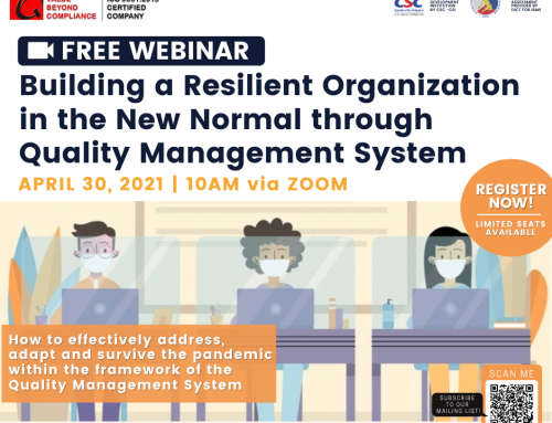 Building a Resilient Organization in the New Normal through Quality Management System