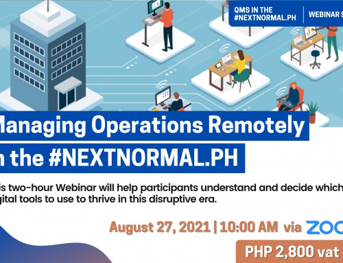 Managing Operations Remotely in the #NEXTNORMAL.PH | QMS IN THE #NEXTNORMAL.PH