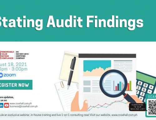 Stating Audit Findings