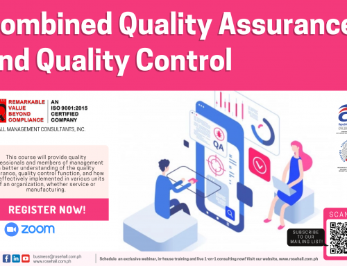 Combined Quality Assurance and Quality Control