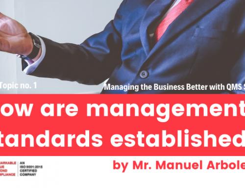 How are management standards established?